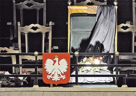 Кресло президента Польши опустело... Фото АП.