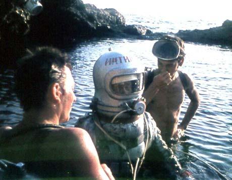 Оборудование для советских космонавтов испытывали крымские акванавты.