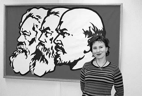 Дарья Асламова в гостях у коммунистической партии Греции.