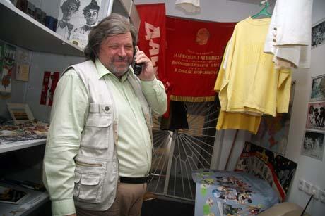 Александр Демидов, директор ТРК «Славутич»: - А это - музей нашей юности!