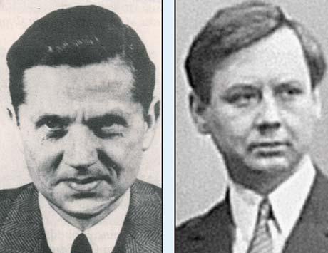Слева - реальный Вальтер Шелленберг. Справа - его образ в исполнении Олега Табакова в «Семнадцати мгновениях...». Определенное сходство налицо, и это, кстати, отмечали родственники бригаденфюрера.