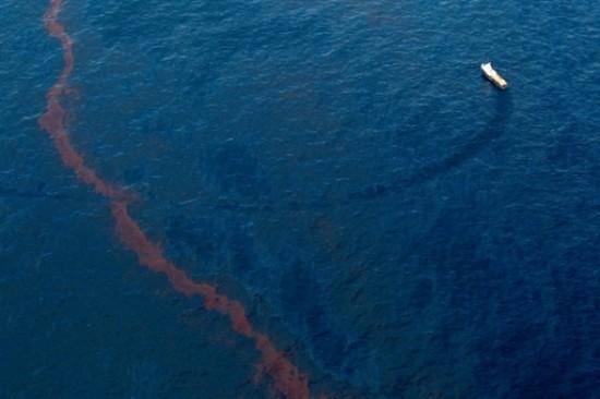 Нефтяное пятно в Мексиканском заливе. Фото: AFP