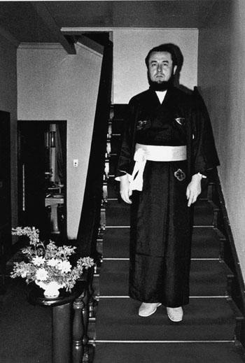 Владыка Ириней в национальной японской одежде (Токио, 1971-1975 годы).