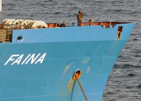 Сухогруз «Фаина», который шел под флагом Белиза, пираты захватили 25 сентября 2008 года возле Кении.