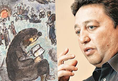 Гордость коллекции Фельдмана - работа Шагала «Молящийся еврей».