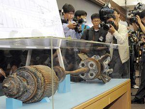 Найденные фрагменты торпеды вчера в Сеуле показали журналистам.
