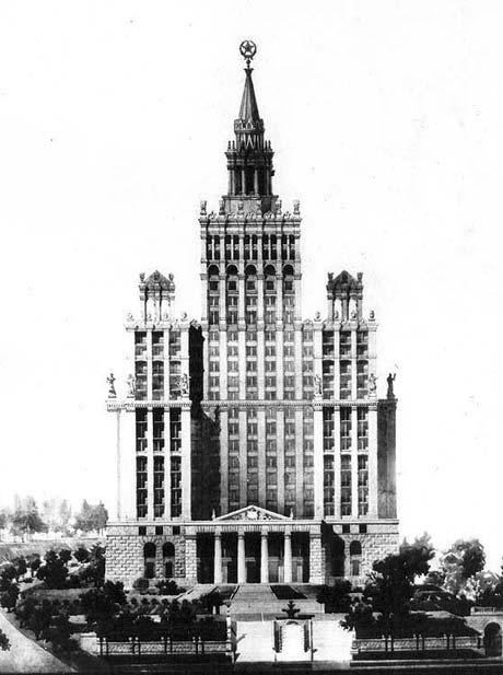 Гостиница «Украина» в современном виде - это лишь жалкая пародия на проект. Борьба с «излишествами в архитектуре» обрезала задуманное красивейшее здание.