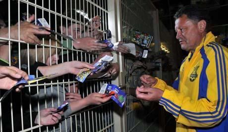 После победного дебюта в ранге главного тренера сборной Мирон Маркевич пользовался особой популярностью среди фанатов.