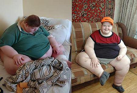 За полгода Саша похудел на 60 килограмм.