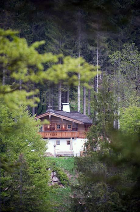 В этом скромном домике высоко в горах отдыхает после тренировок Кличко-старший. Вокруг - только лес, даже мобильная связь не работает.