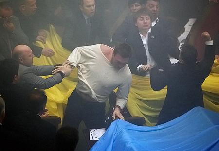 Участников парламентской драки в день ратификации соглашения по ЧФ РФ решили простить.