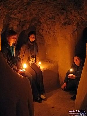 В пещерах Китаево.