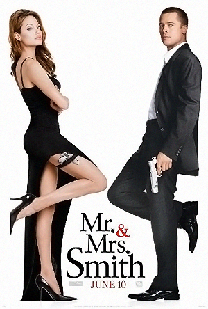Брэду Питту Анджелина вскружила голову на съемках фильма «Мистер и миссис Смит».