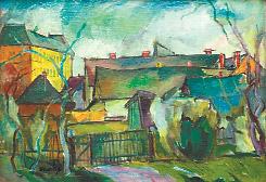 «Пейзаж с домами».