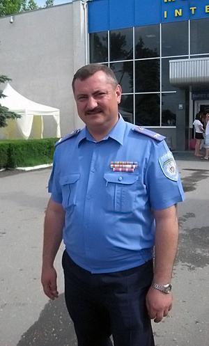 Начальник милиции общественной безопасности симферопольского городского управления МВД Украины в Крыму Валерий Грицай.