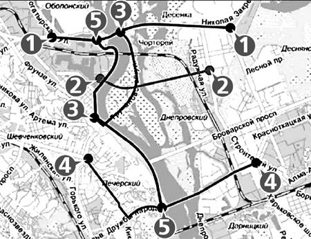 Подольско-Воскресенский: по линии строящегося мостового перехода, от бульвара Перова до Почтовой площади.