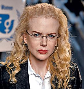 Николь Кидман выбрала металлическую оправу без нижней части: такие очки смотрятся легко и ненавязчиво.