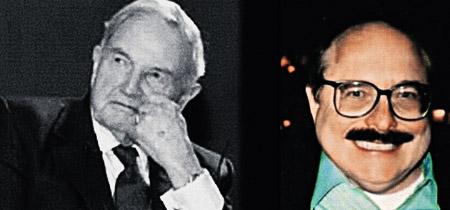 Члены династии Рокфеллеров (слева - Дэвид, справа - Николас) - олицетворение финансовой власти США.
