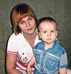 Наталья с сыном Сашей горюют о своем питомце