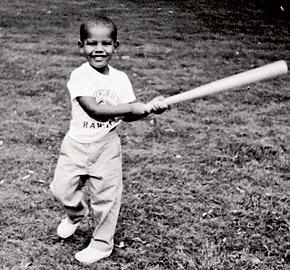 Барак Обама с детских лет любил помахать битой.