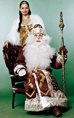 Самый опытный Дед Мороз меняет партнерш как рукавицы.