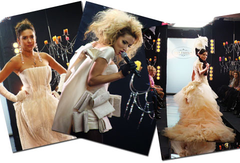 В образе невест Света Лобода, Надя Мейхер и Алена Винницкая выглядели, как и положено «ВИА Гре», - обворожительно...