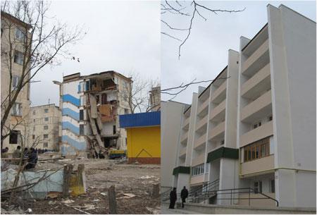 Большинство жителей разрушенной пятиэтажки переедут в новый дом.