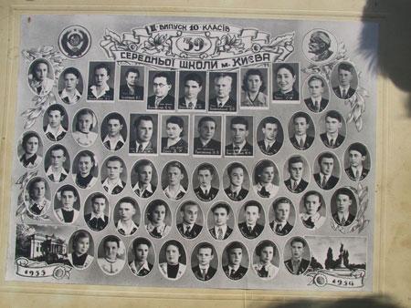1956 год. Выпускной класс Лобановского.