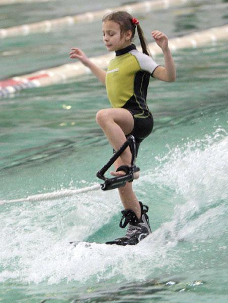 Восьмилетняя Саша Шейко стала чемпионкой в младшей категории.