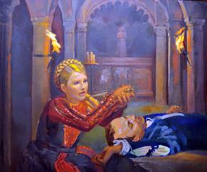 Джульетта с лицом Тимошенко в отчаянии: любимый Ромео-Шуфрич ушел из жизни.