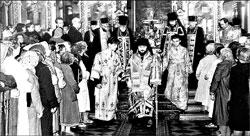Таллинн. 1961 год. Богослужение незадолго перед рукоположением. В центре Никодим, Алексий справа от него в верхнем ряду.