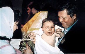 Маленький Рома - крестному Александру Голубу: «Дядя, а вода-то мокрая!»