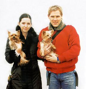 Томаш и Яна тоже неравнодушны к йоркширским терьерам.
