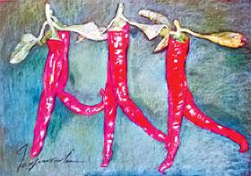 Из цикла «Вкус сиртаки», 2006. Тонированная бумага, пастель, 70х100.