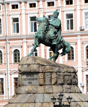 Монумент Богдану Хмельницкому - самый старый конный памятник в Киеве.