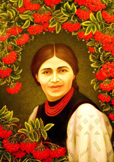 - Портрет Екатерины Билокур кисти ее единственной ученицы Анны Самарской.