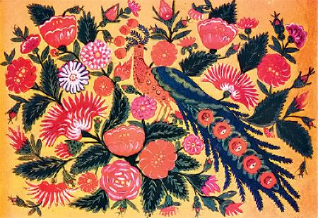 Известной художница стала в 1960-х годах после статьи в «Комсомолке». Произведение того периода - «Птица» (1962).