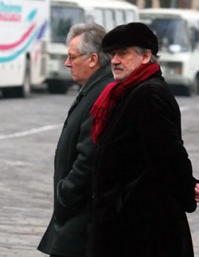 Богдан Ступка и творческая элита Украины пришли проводить Мастера.