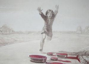 Рисунок сна, в котором дочь предупреждала отца о ДТП.