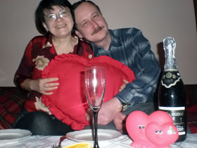 Самая прочная пара: Анжела и Сергей Мартынюк (Киев) - вместе уже 24 года.