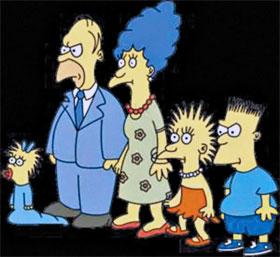 А такими Симпсоны были в 1987 году.