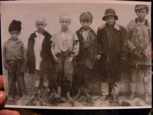 В детском доме (Попеску - крайний слева).