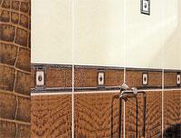 Эта плитка рисунком напоминает и кожу рептилии, и гонимые ветром пески. В общем, для любителей экзотики.