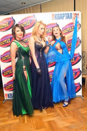 Надя, Таня и Альбина стали объектом для шуток актеров «Вечернего квартала».