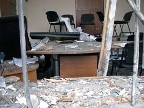 Кабинет главврача после взрыва.