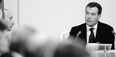Медведев и Путин решили, что переговоры с Украиной начнутся лишь после того, как будут учтены интересы России в газовом вопросе.