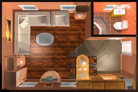 Планировка мини-отеля.