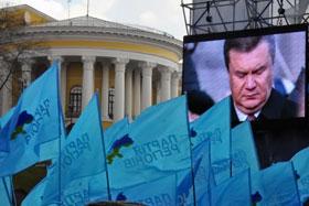 Оживить на короткое время толпу смогло только выступление Януковича.