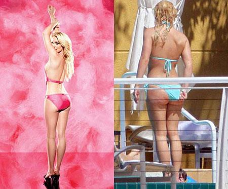 Над чудесным преображением Бритни Спирс явно кто-то поработал. Фото: Daily Mail и celebritieswonder.net
