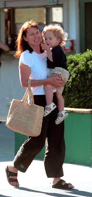 Робин со своим младшим сыном Томом. Фото: celebitchy.com
